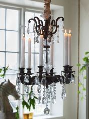 Vintage Candle Chandelier 6arm
