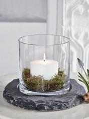 Hand-Cut Slate Hurricane Lamp