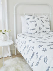 Bed Set Nautical Knots - Grey