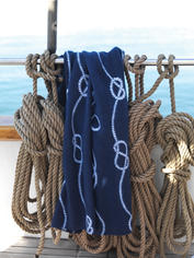 Nautical Fleece Throw - Rope