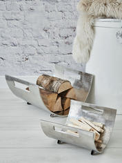 Cast Aluminium Log Holder Set