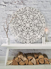 Large Carved Wall Panel - Round