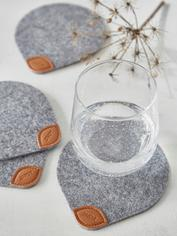 Felt and Leather Coasters