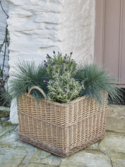 Square Willow Planter on Wheels