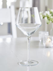 Elegant Etched Red Wine Glass