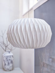 White Paper Lamp Shade - Round