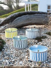 Striped Citronella Candle Cans