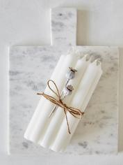 Bistro Dinner Candle Set - White