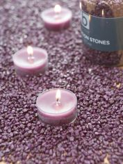 Deep Purple Candle Gravel