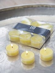 Yellow Clear Cup Tealights