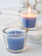 Nordic Blue Glass Candle Votive