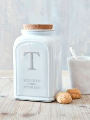 White Ceramic Tea Jar