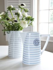 Striped Ceramic Pitcher