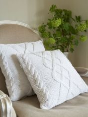 Cable Knit Cushion - White