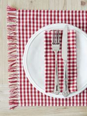 Red Gingham Table Linens